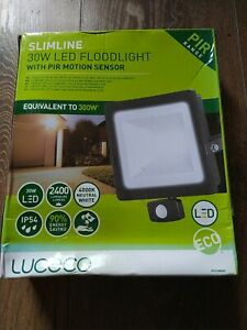 Luceco Slimline 30w Led Floodlight With PIR MOTION SENSOR
