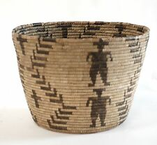 "ANTIQUE COLLECTIBLE PAPAGO NATIVE AMERICAN LARGE BASKET 10 1/2"" H X 15"" W"
