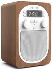 Pure Evoke H2 DAB DAB+ Portable Radio FM Alarm Clock Walnut