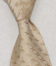 """Donna Karan """" Signature """" Lt or Cravate W/Métallique Motif Géométrique 10.2cm"""