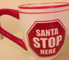 St Nicholas Square XL Coffee Mug Santa Stops Here Chrsitmas Tea Hot Chocolate
