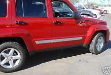 Jeep Liberty Chrome Body Side Molding Set NEW OEM MOPAR