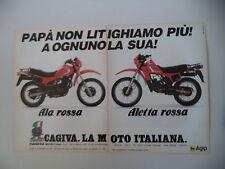 advertising Pubblicità 1983 MOTO CAGIVA ALA ROSSA 350/ALETTA ROSSA 125