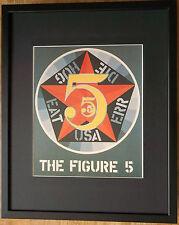 Figure 5 par robert indiana, cadre 20''x16'', pop art wall art, pop art imprimé