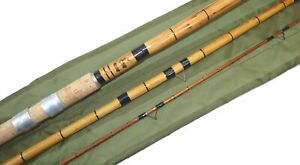 Milward Featherlite 12' 3 piece  vintage cane float or coarse fishing rod, in...