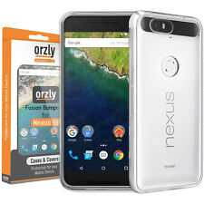 Orzly Fusion Bumper Case for Huawei Google Nexus 6P - Crystal Clear Transparent