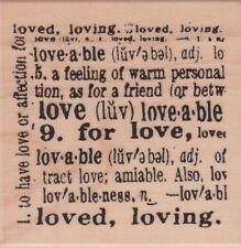 Love definida sello de goma montado madera-Hampton Art/Edición Limitada