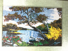 Beautiful Handmade Finished Embroidery of Lake