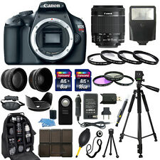Canon EOS Rebel T3 1100D SLR Camera +18-55mm IS Lens + 30 Piece Accessory Bundle