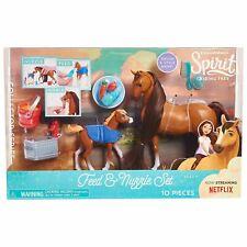 Montar a caballo libre de alimentación y Nuzzle Spirit Horse Playset