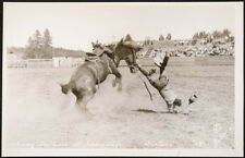 Johnny Durham off Johnny Jay, Sisters, '48, DeVere, rodeo, Real Photo Postcard