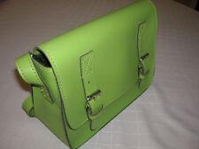 "NEW WOMENS handbag purse SMALL apple green messenger cross body PVC 6.5"" T22"
