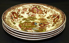Set 4 Royal Staffordshire Clarice Cliff Tonquin Soup Plate Pasta Bowl Multicolor