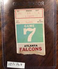 1968 Falcons NFL CHAMPIONS Baltimore Colts Football ticket stub HOF Shula Unitas
