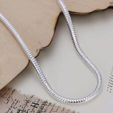 925 Silver 3MM Snake Chain Bracelets Bangle