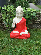 Buddha Gro�Ÿ Feng Shui Statue Budda rot 45 cm Figur Garten Deko Wetterfest