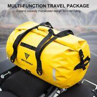 Motorcycle Rear Tail Bag Back Saddle Shoulder Carry Bag Waterproof Reflective