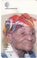DOMINICA..$10.WORLDS OLDEST WOMAN PHONECARD USED,