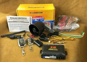 NEW Crimestopper SP-502 2-Way Car Alarm / Remote Start w/ Two Remotes