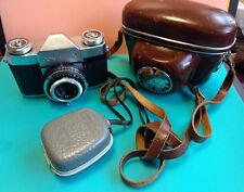 Zeiss Ikon Contaflex 45mm Camera With Case And Gossen Pilot Exposure Light Meter