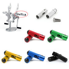 CNC Folding Foot Pegs Footpeg Rear Set Rest Racing Fit Universal Motorcycle UE