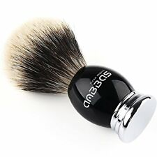 Anbbas Silvertip Badger Shaving Brush Black Resin & Alloy Design Handle for Men
