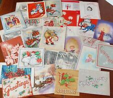 Lot of 30 Vintage Christmas Cards