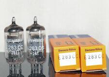 2 Tubes Siemens Halske E283CC 3-mica Matched Pair (202024)