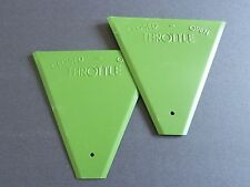 Pair of Epoxied Piper Cub Plates -Throttle Covers, PN 41501-00, Replica