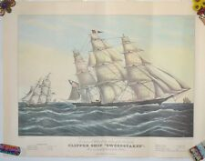 Vintage Poster Clipper Ship Sweepstakes Currier and Ives #22 Print