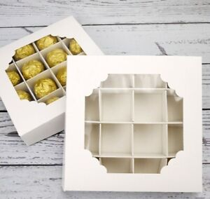 REDUCED PRICE 20 x Empty WHITE Pick and Mix Sweet Boxes with Inserts-  Free Post