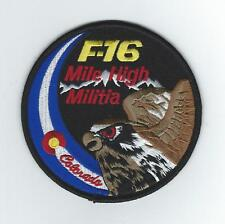 "120th FIGHTER SQUADRON ""MILE HIGH MILITIA"" F-16 SWIRL (THEIR LATEST) patch"
