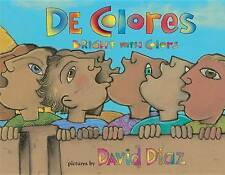 NEW De Colores: Bright with Colors (Spanish Edition) by David Diaz