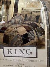 Grand Manor Jacquard Woven king  3 pcs comforter set Shams By Victoria Classics