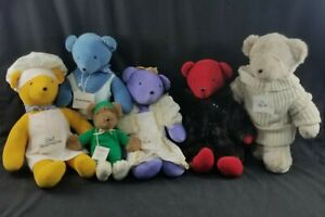 VIB from North American Bear Company Lot of 6 Vintage Teddy Bears
