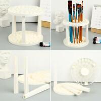 Art Supplies Multi Bin Paint Brush Pen Holder Round Organizer Drawing TOP O9O9