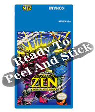 Zen Intergalactic Ninja Nes Cartridge Replacement Game Label Sticker Precut