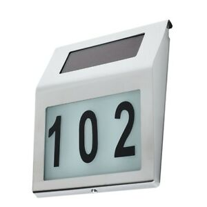 LED House Number Door Plaque Solar Powered Number GLOWING in the DARK