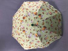 Vintage Child's Cotton Parasol Umbrella Character Handle Euc
