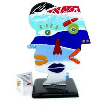 Signed & With Certificate Superb Italian Picasso Tribute Face Sculpture N4