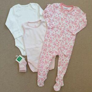 Baby Girl 9-12 Months Bundle Bodysuits Babygrow Socks New Next Pink Clothes