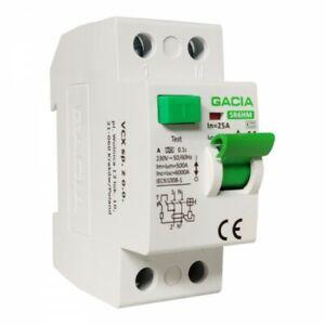 Fi Switch 25A 30mA 2p 6kA Typa fi Protection Switch Rccb GACIA 6958