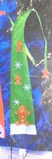 Solar 5' Light Up Banner Yard Flag Decor Gingerbread Man Snowflake Christmas