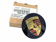 Genuine Porsche 997 987 Cayenne Center Cap Black Colored Crest Wheel Center Cap
