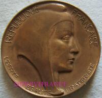 MED12152 - MEDAILLE MARIANNE OFFERTE ROBERT CALMEJANE DEPUTÉ DE LA SEINE 1958-67