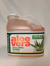 1 Gallon aloe vera from 100% hand cultivated inner gel fillet 128 oz. 99.8 pure
