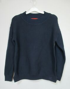 New Womens Crew Clothing Navy Textured Knit Jumper Size 8 - 16