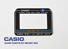 VINTAGE GLASS CASIO M-301 MELODY NOS