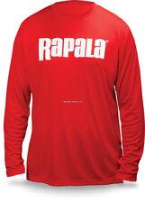 NEW Rapala Fishing Core Long Sleeve Shirt Red White Logo L RCLS9002L