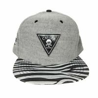 Men's Zebra Adjustable Snapback Baseball Cap Grey White Black Classic Hat New